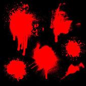 Blood splatters — Stock Vector