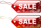 Christmas sale labels — Stock Vector