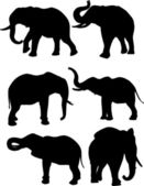 Elephants — Vector de stock