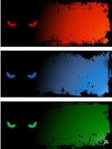 Evil eye backgrounds — Stock Vector