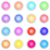 Glossy buttons — Stock Vector