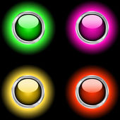Glowing buttons — Stock Vector