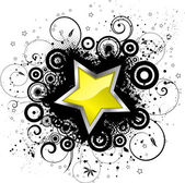Grunge star — Stock Vector