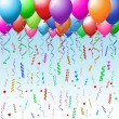 Party background with balloons — Stock Vector