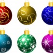 Christmas baubles — Stockvector #40599671