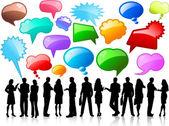 Business conversations — Stock Vector