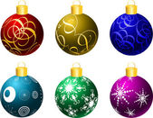 Christmas baubles — Vector de stock