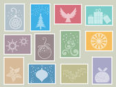 Christmas stamps — Stockvector