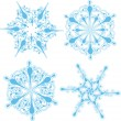 Stock Vector: Detailed snowflaked designs