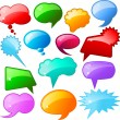 Glossy speech bubbles — Stock Vector #40601573