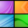 Gradient backgrounds — Stok Vektör #40601689