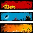 Grunge Halloween backgrounds — Vector de stock