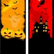 Grunge Halloween backgrounds — Vector de stock #40601971