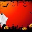 Grunge Halloween background — Stock Vector #40601991