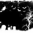 Grunge Halloween background — Vector de stock #40602003
