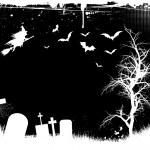Grunge halloween achtergrond — Stockvector