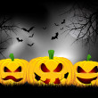 Stock Vector: Halloween background