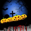 Vector de stock : Halloween pumpkin background