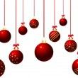 Hanging baubles — Stockvector #40602433