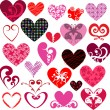 Decorative hearts — Stock Vector