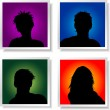 Stock Vector: People avatars