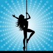 Stock Vector: Pole dancer