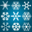Snowflake designs — Stock Vector