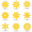 Stock Vector: Gold star icons
