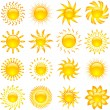 Sun icons — Stock Vector #40603775