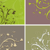 Floral backgrounds — Stock Vector
