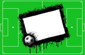 Grunge football background — Stock Vector