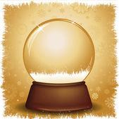 Gold snow globe — Cтоковый вектор