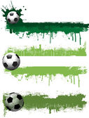 Grunge football banners — Stock Vector