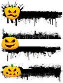 Grunge Halloween borders — Stock Vector