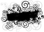 Grunge swirls background — Stock Vector