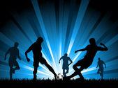 Homens jogando futebol — Vetor de Stock