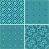 Seamless tile retro backgrounds — Vecteur