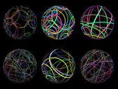 Scribble spheres — Stock Vector