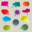Stock Vector: Brightly coloured speech bubbles