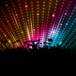 Stock Vector: Disco crowd background