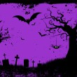 Grunge halloween background — Vector de stock