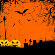 Stock Vector: Grunge halloween background