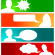 People avatars with speech bubbles — Stock Vector