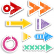 Stock Vector: Scribbled arrow designs