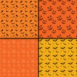 Seamless tile Halloween backgrounds — Vector de stock