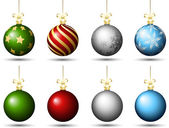 Christmas baubles — Stockvector