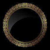 黄金的圆形框架 — 图库矢量图片