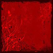 Grunge floral valentines background — 图库矢量图片