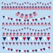 American flags bunting and banners — Stock Vector #40756789
