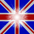 Stock Vector: Starry Union Jack Flag background